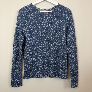 Loft Blue Crewneck Long Sleeve Sweater Size Small